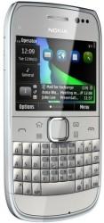 Nokia E6 silver